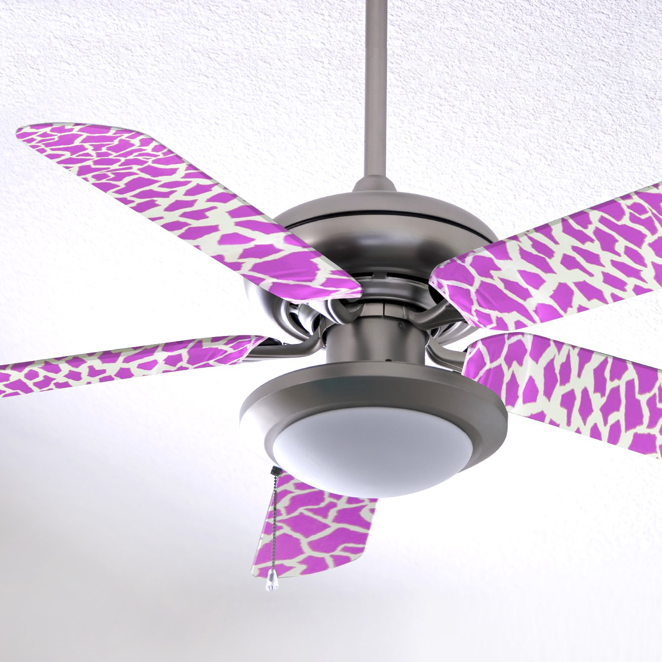 Fancy Blade Ceiling Fan Accesories Blade Cover Decoration, Pink Giraffe