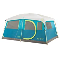 Coleman Tenaya Lake Fast Pitch 8-Person Camping Cabin Tent with Built-in Closet