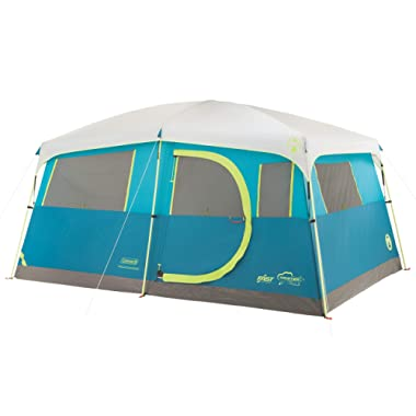 Coleman 8-Person Camping Tent with Built-in Closet | Tenaya Lake Cabin Tent with Fast Pitch Setup
