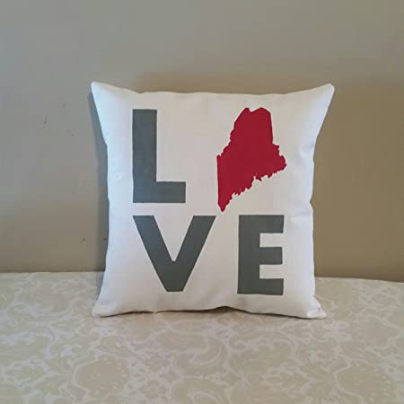 Cusion Covers Housewarming Gift Ideas State Love Pillow Moving Out