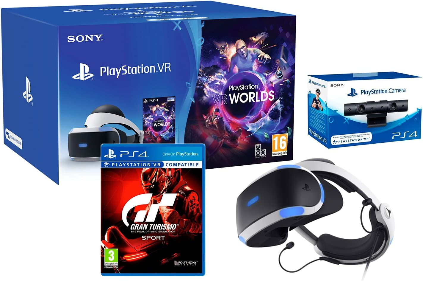 VR2 Negro GT Sport Pack + VR Worlds + PS4 Cámera VR GT Sport Pack + VR Worlds + PS4 Cámera VR: Amazon.es: Informática