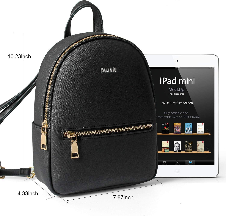 WKDYBDWomen PU Leather Backpack Mini Daypacks Handbags Convertible Shoulder Bag Letter Purse Mobile Phone Messenger Bag