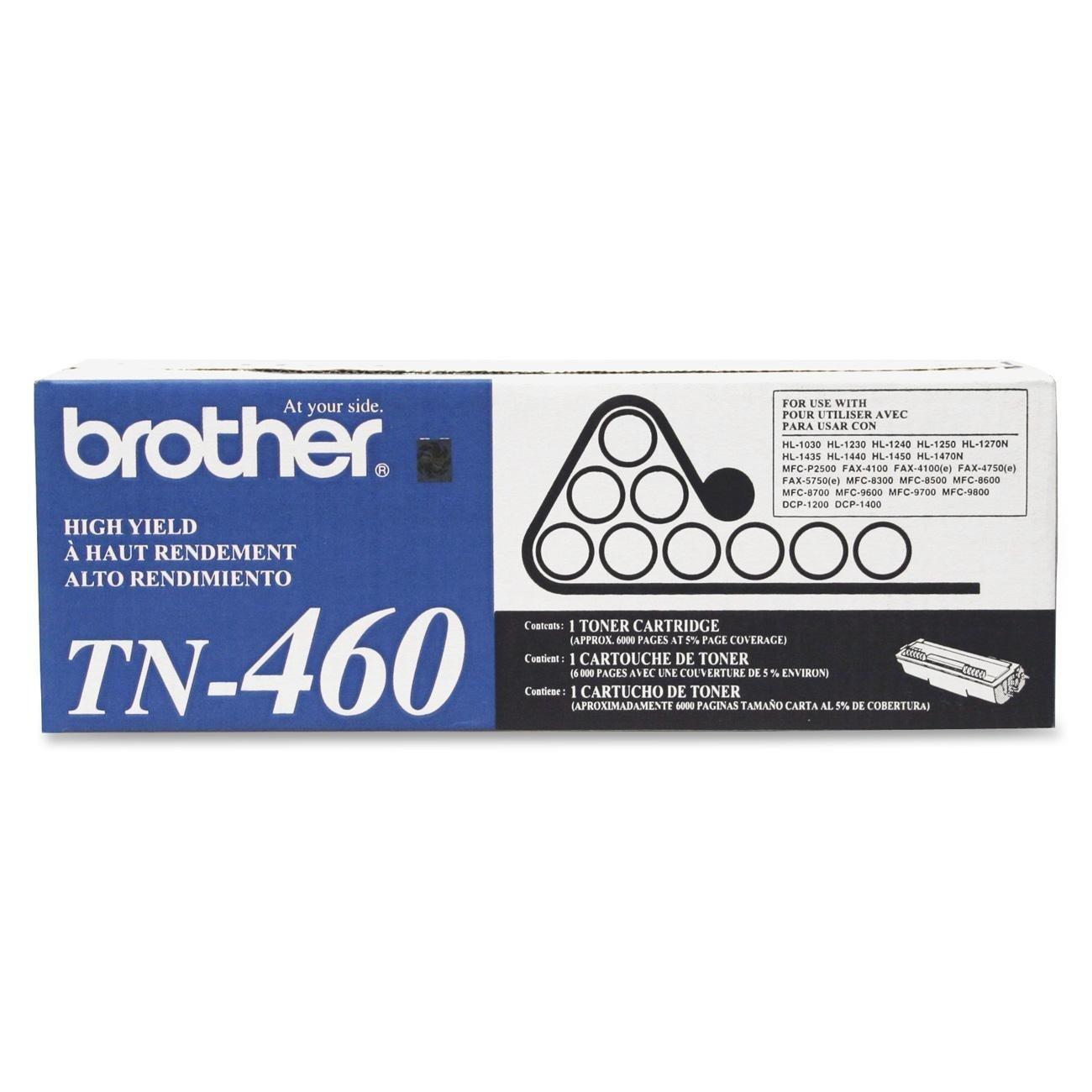 Toner Original BROTHER TN-460 (TN460) Alta Capacidad Black Laser 2-Pack