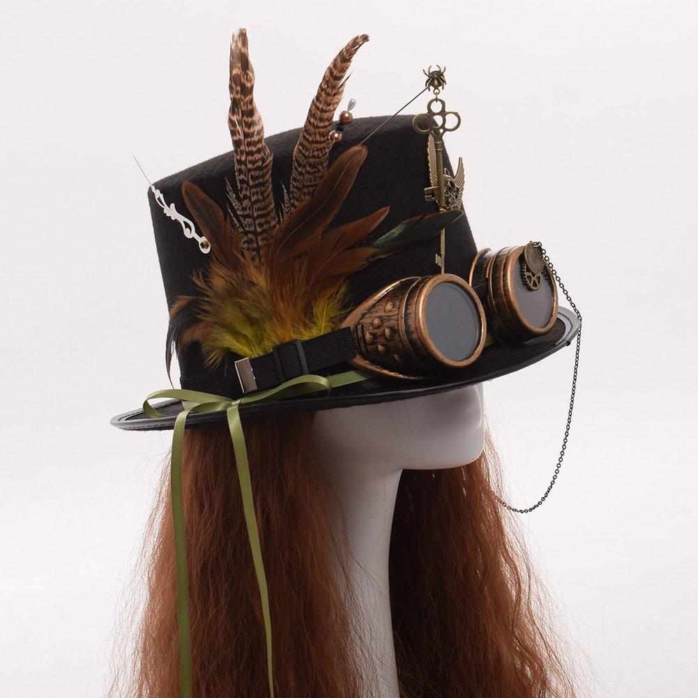 GRACEART Steampunk Cappelli a cilindro con googles(Vari stili ... d6af19c57d15
