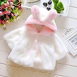 Kids Infant Girls' Fur Fleece Lapel Jacket Long