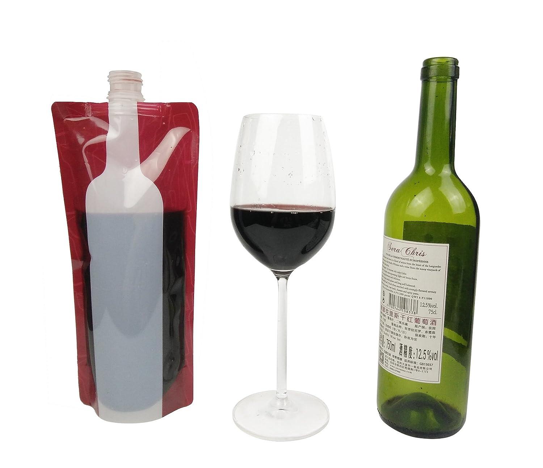 Hapway Lot de 4/Portable r/éutilisable souple pliable pliable Leekproof bouteilles de vin Pochette pour voyage barbecue Camping Plage randonn/ée f/ête Bouteille de Vin Sac isotherme