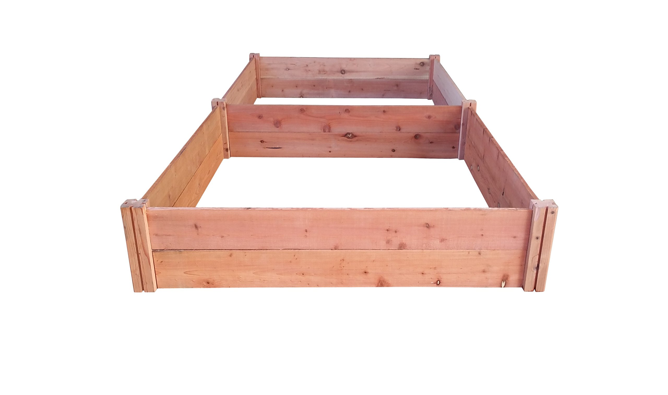 GroGardens 4' x 8' x 11'' Redwood Raised Garden Bed