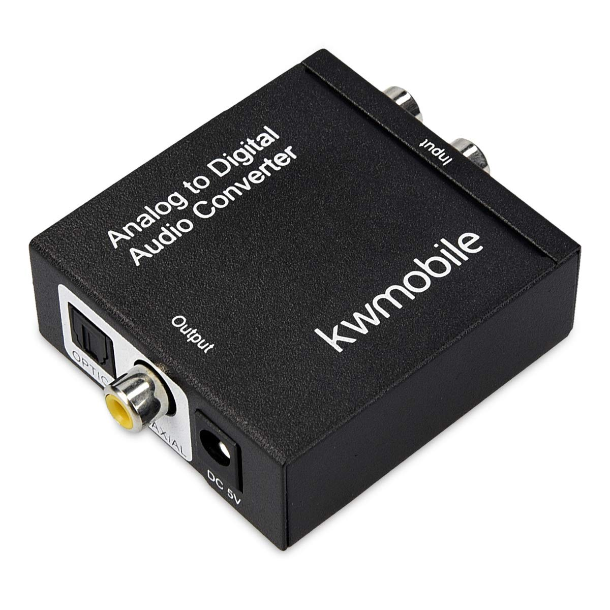 Audiowandler Analog auf Digital Wandler kwmobile Analog zu Digital Audio Konverter Klinke RCA Stecker zu 2X Ausgang Toslink//SPDIF Koaxial Cinch
