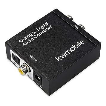 kwmobile Conversor de Audio analógico a Digital - Convertidor de señal de Audio análogo - SPDIF