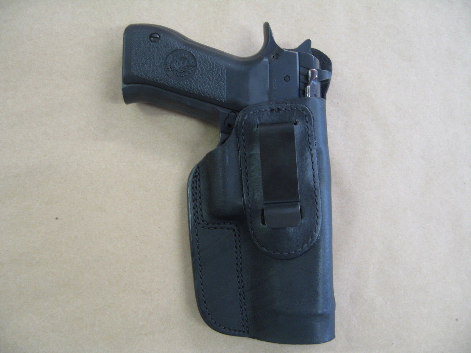Azula IWB Leather in Waistband Conceal Carry Holster for CZ 75 SP-01 SP01 Black RH