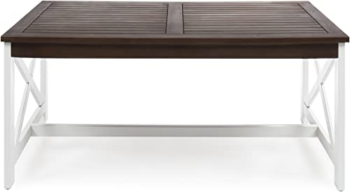 Christopher Knight Home Newman Indoor Farmhouse Acacia Wood Coffee Table - a good cheap living room table