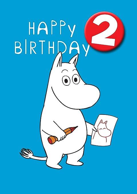 Hype Moomin Tarjeta de cumpleaños - edad 2: Amazon.es: Hogar