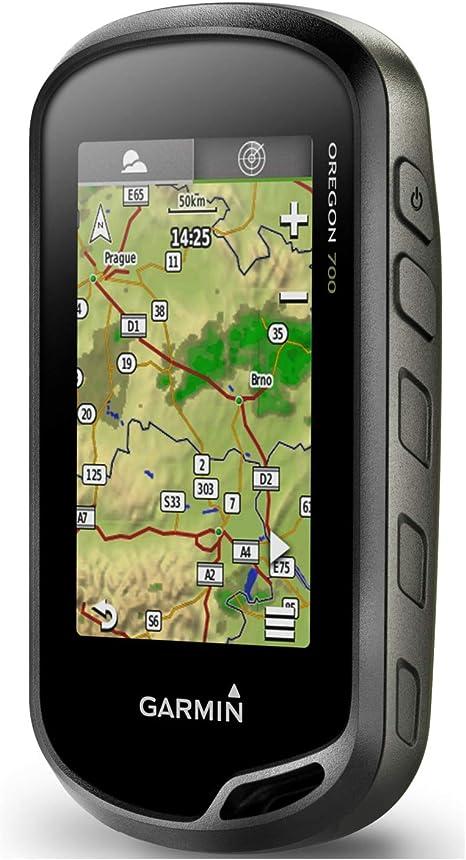 Garmin Oregon 700 Wasserdichtes Gps Outdoor Navi Mit 3 7 6 Cm Farb Touchscreen Vorinstallierter Basiskarte Aktivitätsprofilen Für Outdoorsportarten Geocaching Live Wlan Sport Freizeit