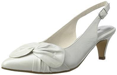 29612, Sandales Bout Ouvert Femme, Blanc (White 100), 37 EUTamaris