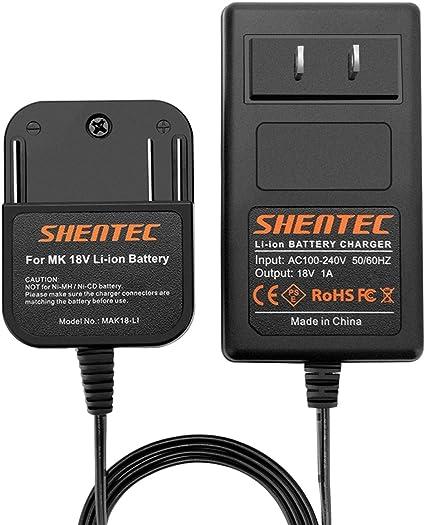 Amazon.com: Shentec 18V Cargador de batería de litio ...