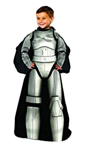 """Disney's Star Wars, """"Being Stormtrooper"""" Youth Comfy Throw Blanket with Sleeves, 48"""" x 48"""", Multi Color"""