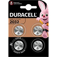 Duracell Specialty 2032 Lithium Coin Battery 3 V, (DL2032/CR2032) Suitable for Use in Keyfobs, Scales, Wearables and Medical Devices, Pack of 4