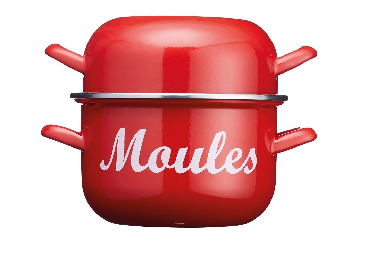 Kitchencraft World of Flavours Enamel Mussel Pot, 2.5 litres (½ Gallon) - Blue Kitchen craft WFMUSSBLU