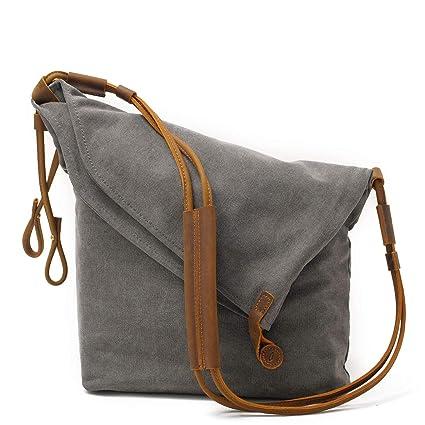Amazon.com: ZWNSWD WMA-Canvas Handbag Shoulder Messenger Bag ...