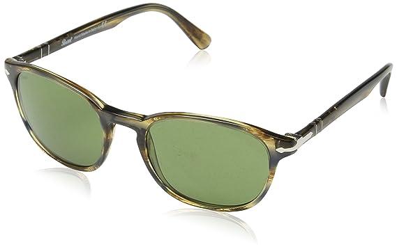 629d9447e6 Amazon.com  Persol Men s PO3148S Sunglasses Striped Brown Grey Green ...