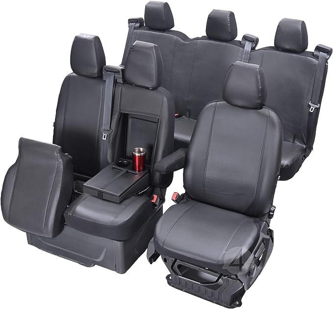 Passgenaue Kunstleder Sitzbezüge Vip Kompatibel Mit Transit Custom Doppelkabine Ab 2018 6 Sitzer Auto