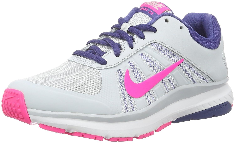 Nike Women'S Dart Pure Platinum/Dk Purple Dust/White/Pink Blastrunning Shoes