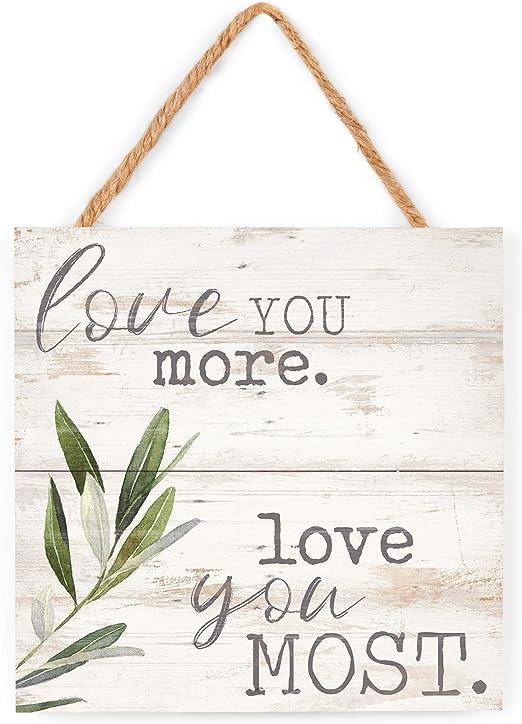 GRAHAM DUNN I Love Us Whitewash 7 x 7 Wood Box Wall Photo Frame Plaque P