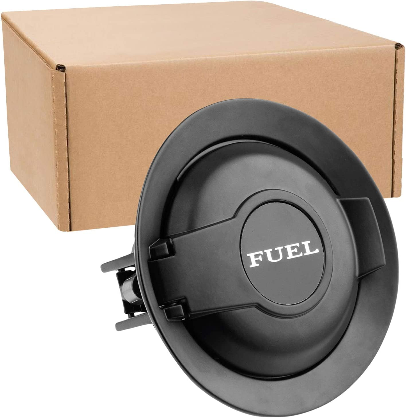 68250120AA Vapor Edition Fuel Filler Door Replace for Mopar Fit for 2008 2009 2010 2011 2012 2013 2014 2015 2016 2017 2018 2019 Dodge Challenger Matte Black