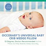 OCCObaby Universal Baby Crib Wedge Pillow with