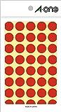 エーワン カラーラベル 赤 丸型 15mm 14シート 07021