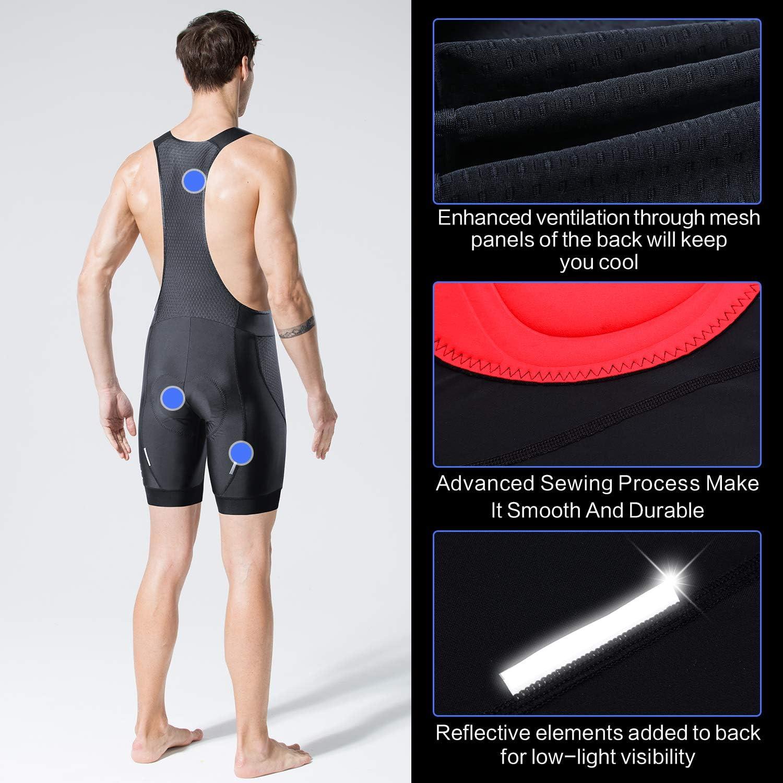 Souke Sports Mens Cycling Bib Shorts,Padded Cycle Tights Shorts Breathable Quick Dry Bike Bicycle Shorts