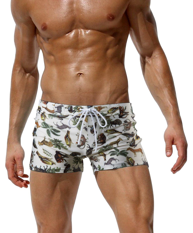 "austinbem Swimwear Men Rings Print Swim Short Gay Men Swim Briefs 228 … (US Small/Tag M (27""-31""), 05)"