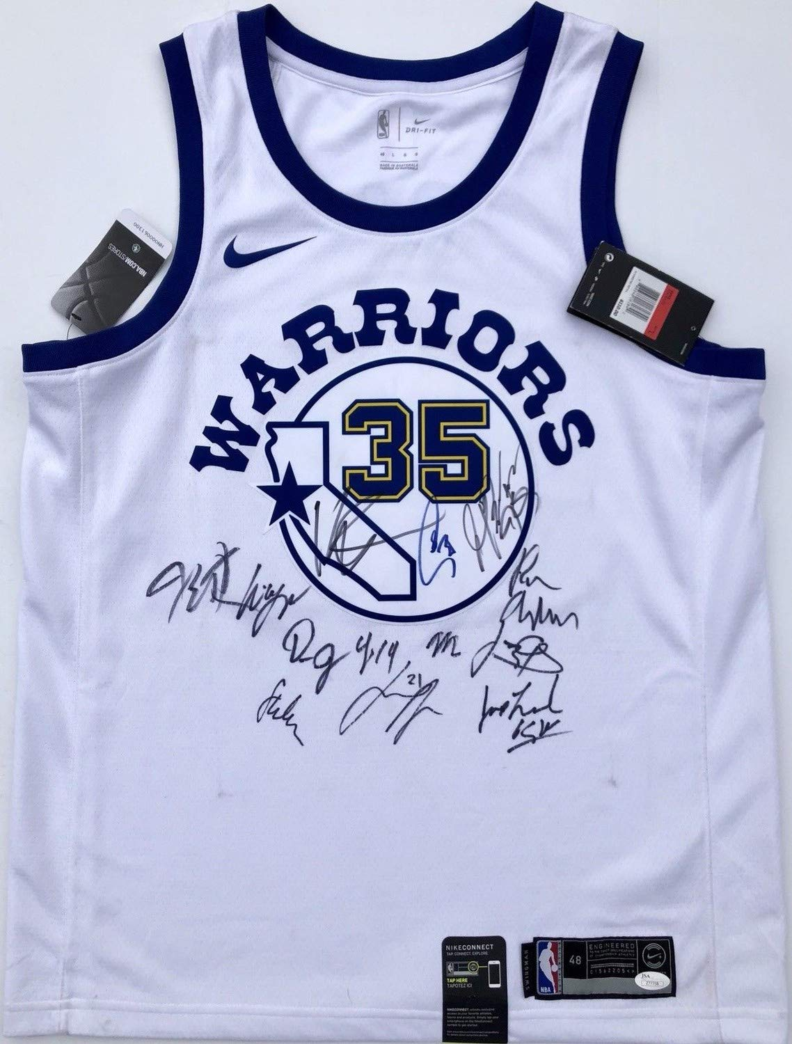 2396b6afcd7c0 2018-19 Golden State Warriors Team Autographed Signed Nike Jersey ...