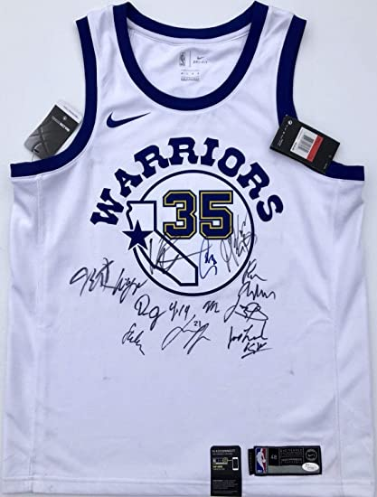 8e087d09a70 2018-19 Golden State Warriors Team Autographed Signed Nike Jersey ...