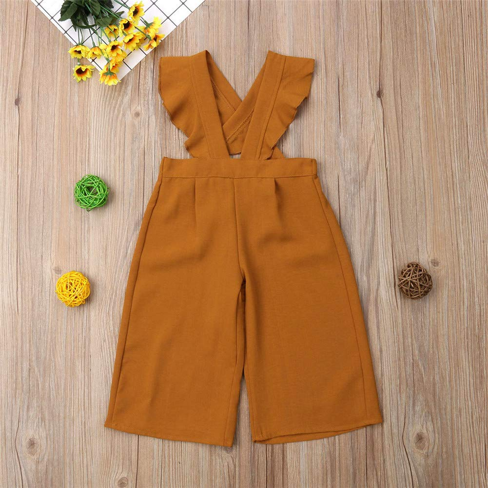 07787538d1 ... Zoiuytrg Toddler Baby Girl Fall Outfits Kid Ruffles Sleeve Long Pants Suspender  Overalls Romper Jumpsuit Clothes ...