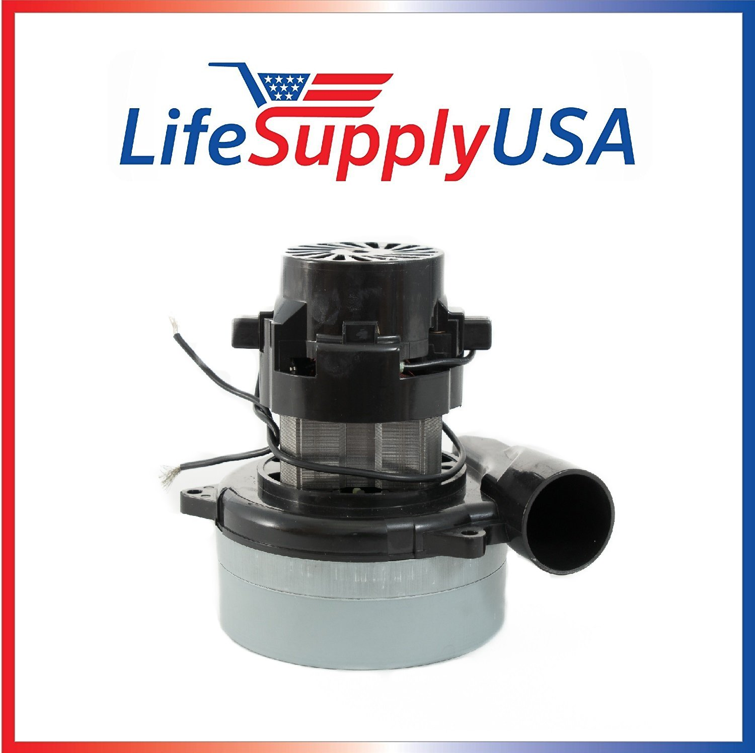 "LifeSupplyUSA New Central Vac Vacuum Motor with Wires Compatible with Most Brands 5.7"" 120 Volt 1300 Watts UL Listed Lux 119412 119414-00 Compatible with Electrolux"
