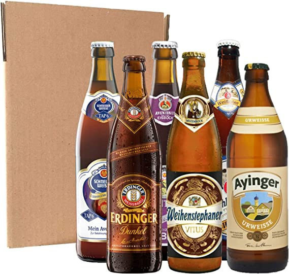 Pack degustación de cervezas alemanas (6 botellines de 50 cl ...