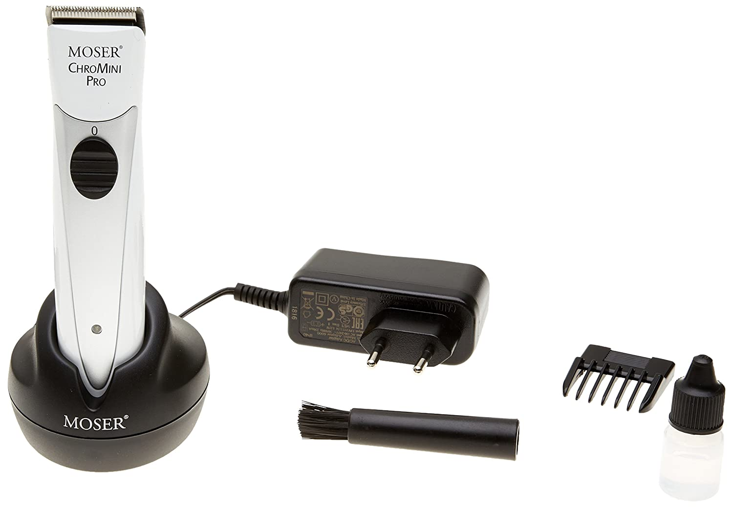 MOSER ChroMini Pro 1591 White Professional Cordless Hair Trimmer 100-240V