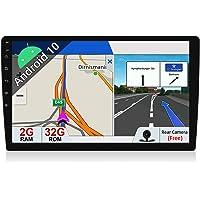 JOYX Android 10.0 dubbele DIN autoradio met GPS-navigatiesysteem, 2G/32G, gratis achteruitrijcamera, 10,1 inch HD-scherm…