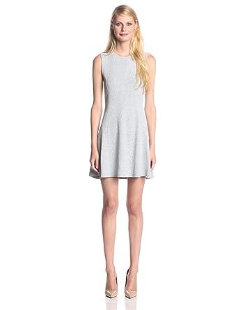 Theory Women's Nikayla Stonemarl Flared Dress, Black/White, Petite