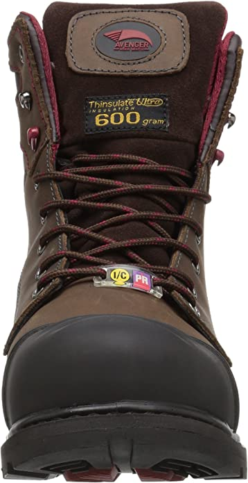 AVENGER SAFETY FOOTWEAR A7573 Work Boots,Men,11W,Lace Up,Brown,PR