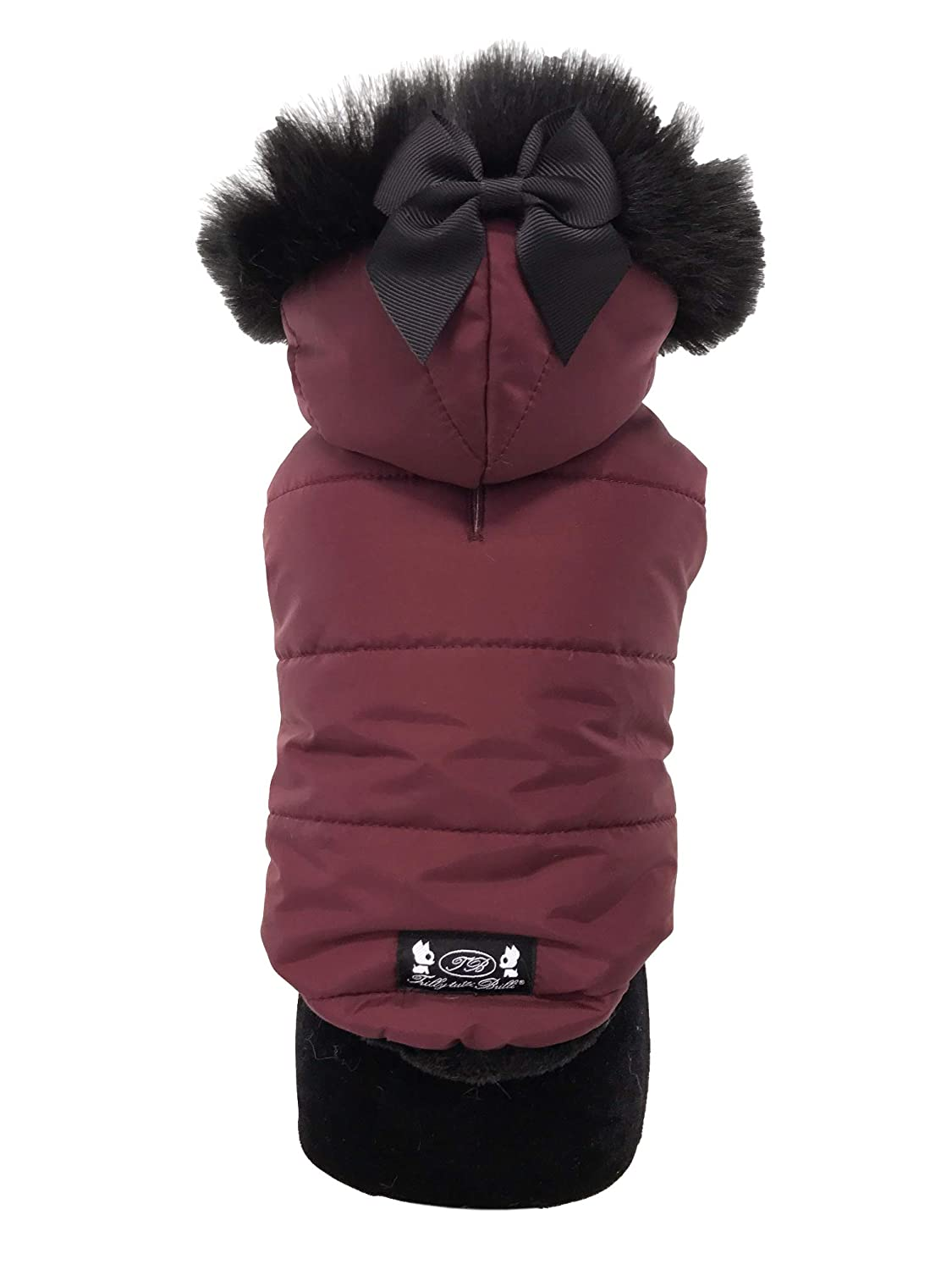 Maroon S M maroon S M Trilly tutti Brilli Emma, dog's down jacket with detachable hood, maroon, S M