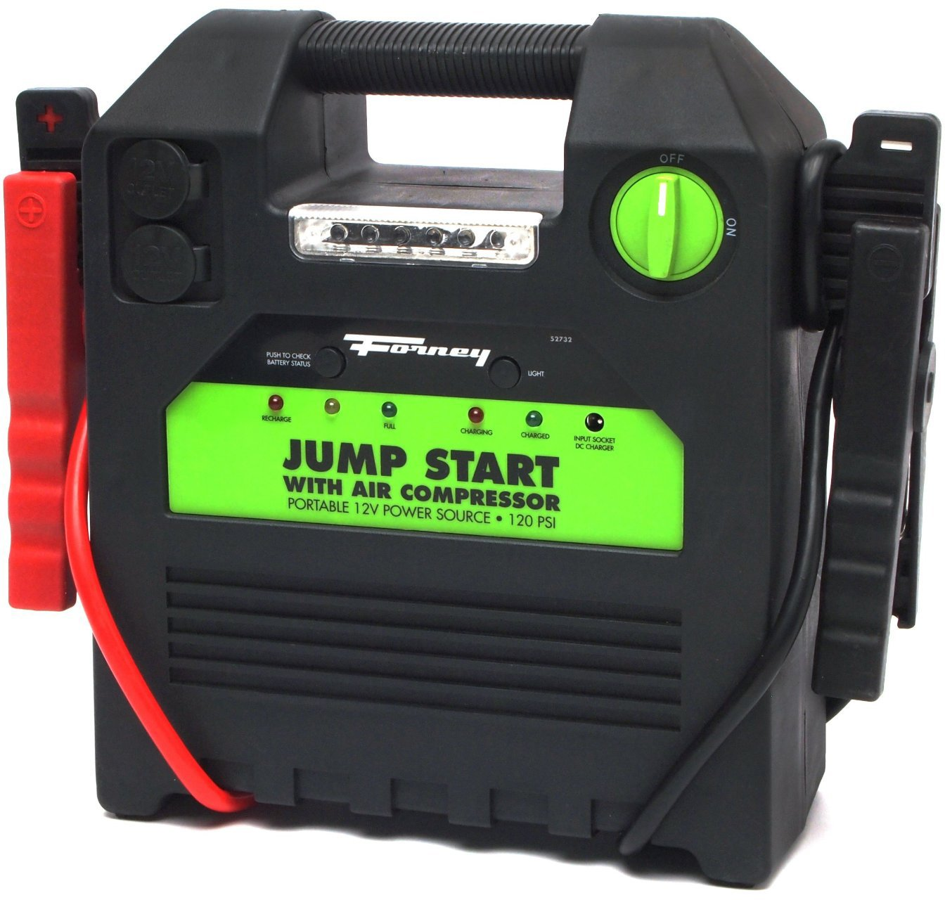 Forney 52732 Battery Booster Pack with 120 PSI Air Compressor, 18-Amp Hour, 12-Volt Jump Start by Forney (Image #10)