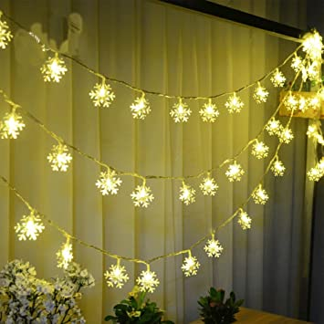 Image Unavailable - Amazon.com : Biowow Christmas Lights Outdoor Battery Operated 2.5m