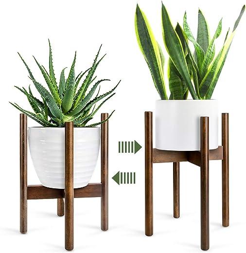 Renfox Soporte para Plantas,Mediados de Siglo Soporte para Macetas Estantería de Flores/Plantas para Interiores 1pcs 8 Pulgadas/21cm (Planta y Maceta NO Incluidas)