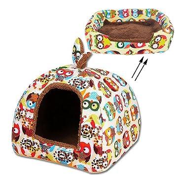 Amazon.com: Pet tienda 2 en 1 Cama Suave Mascota Perro Gato ...