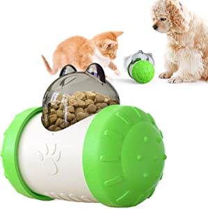 Papipet Cat Toy Interactive Leaking Food Feeder Dispenser Kitty Dogs Toy, Slow Food Dispenser Puzzle Puppy Toy for Playing Chasing Eating