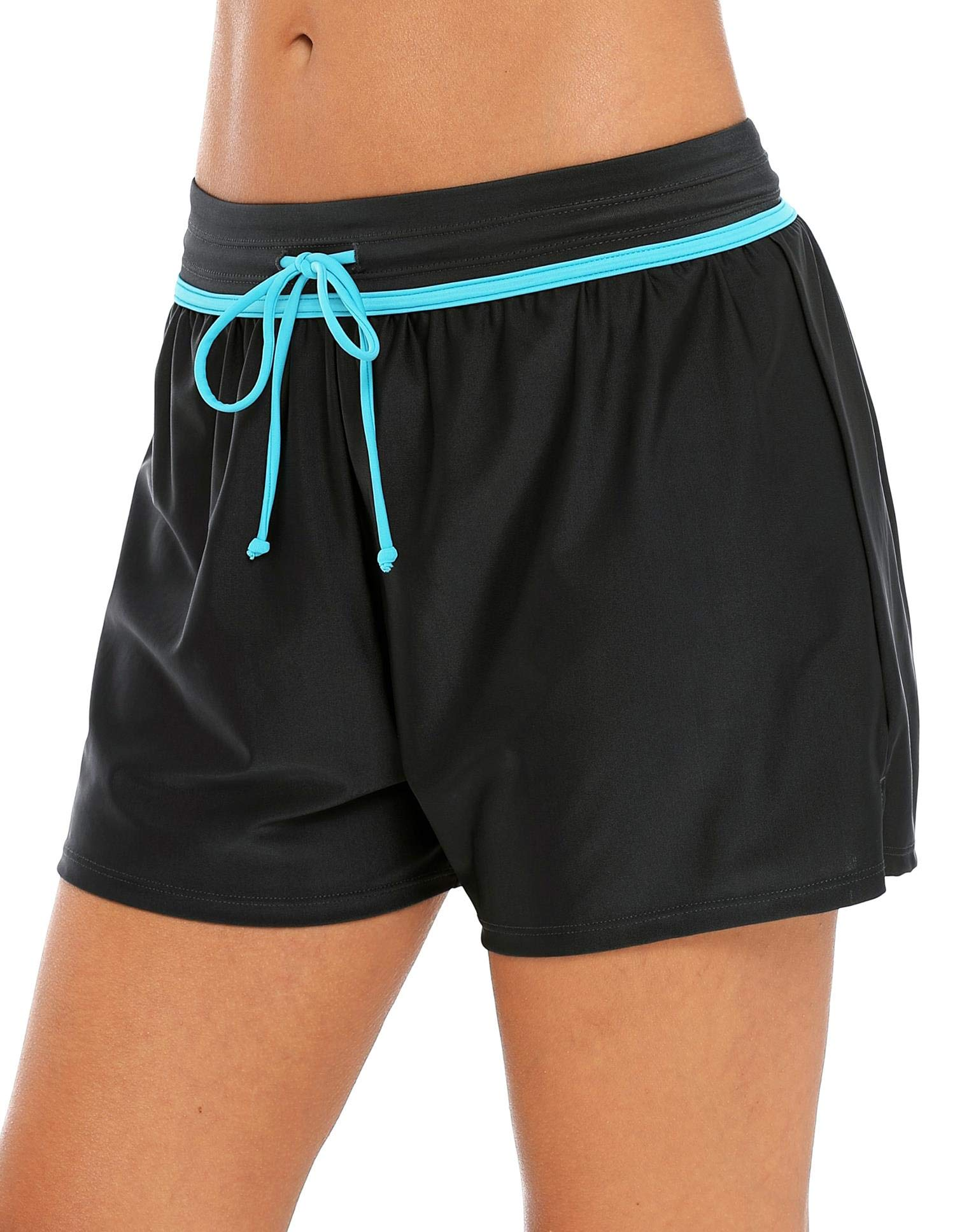 Anwell Swim Tankini Swimsuit Bottom for Women Drawstring Boardshort Aqua Medium by Anwell