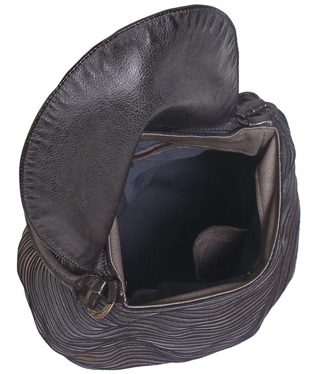 Majo In pelle Flap Tote Bag Cioccolato Unica Taglia: Amazon