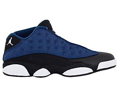 best sneakers d0f7b 23bf2 Image Unavailable. Nike Men s Air Jordan 13 Retro Low Basketball Shoe Brave  Blue Metallic Silver